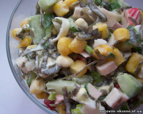 Ралат из морской капусты с крабовыми палочками Салаты в архивах: салат с...